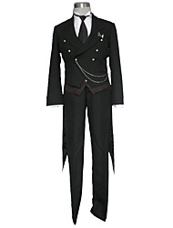 Black Butler Cosplay Costumes Top / Tuxedo / Vest / Shirt / Pants/ Gloves / Badge / Necklace / More Accessories  Male