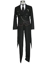 Inspirado por Black Butler Fantasias Anime Fantasias de Cosplay Ternos de Cosplay Cor Única Colete Camisa Calças Luvas Colar Mais