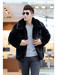 Winter Fur Coat Long Sleeve