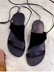 Women's Sandals Others Cowhide Casual Black / Brown