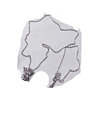 Colliers Tendance Pendentif de collier Bijoux Quotidien / Décontracté Logo Argent sterling Femme 1pc Cadeau Blanc