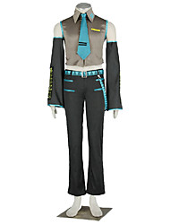 Vocaloid Hatsune Miku Anime Cosplay Costumes Top / Pants / Tie / Sleeves / Belt / More Accessories Kid