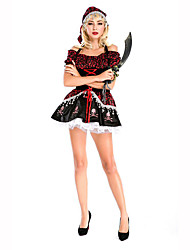 Cosplay Costumes Party Costume Masquerade Pirate Career Costumes Festival/Holiday Halloween Costumes Print Dress HeadpieceHalloween