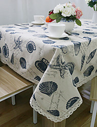 Rectangular Patterned Table Cloth , Linen / Cotton Blend MaterialTable Decoration Weddings Dinner Decor Home Decoration Hotel Dining