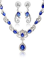 Bijoux 1 Collier / 1 Paire de Boucles d'Oreille Imitation Ruby / Imitation de diamant / Strass / Imitation SapphireSoirée / Quotidien /