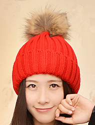 Simple Fashion Simple Color Single - Breasted Knitted Cap Wool Cap