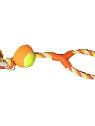 Игрушка для собак Игрушки для животных Плюшевые игрушки Прочный Оранжевый Текстиль