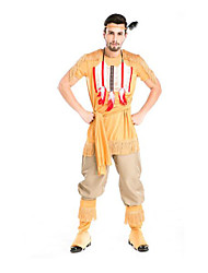 Festival/Holiday Halloween Costumes Yellow Solid Top / Pants / More Accessories / Headwear Halloween / Christmas / Carnival Male