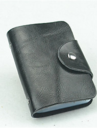 Casual / Office & Career / Professioanl Use-Card & ID Holder-Cowhide-Unisex