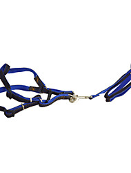 Dog Harness / Leash Casual Solid Blue Nylon
