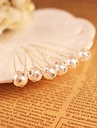 Women's Rhinestone / Alloy / Imitation Pearl Headpiece-Wedding / Special Occasion / OutdoorFlowers / Head Chain / Hair Pin 6 Pieces