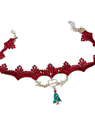Holiday Jewelry Red Alloy Cosplay Accessories Christmas
