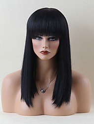 Beautiful Long Capless Wigs Natural Straight Human Hair  Wigs
