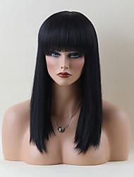 жен. Человеческие волосы без парики Черный как смоль Medium Auburn Medium Auburn / Bleach Blonde Бежевый Blonde // Bleach Blonde Длиный