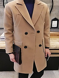 Winter Trench Coat Long Sleeve Polyester