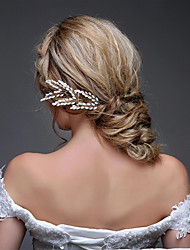 Women's Alloy / Imitation Pearl Headpiece-Wedding / Special Occasion / Casual / OutdoorHeadbands / Hair Combs / Flowers / Hair Stick /