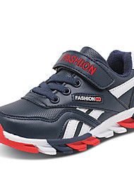 Boy's Athletic Shoes Spring Summer Fall Winter Comfort Leather Outdoor Casual Athletic Low Heel Magic Tape Blue Red Navy