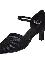 Women's Ballroom Dance Shoes Satin Latin / Jazz / Swing Shoes / Salsa Sandals / Heels Customizable