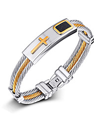 Bracelet Chain Bracelet Loom Bracelet Steel Cross Birthday Daily Casual Sports Outdoor Jewelry Gift Multi Color,1pc