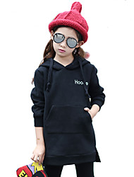 Girl Cotton Fashion Spring/Fall/Winter Going out/Casual/Daily Print Solid Color Long Sleeve Hoodie Sweatshirt