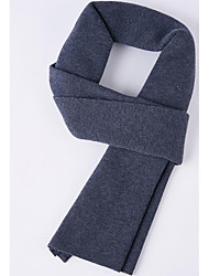 Men Wool Scarf,Casual RectangleSolid