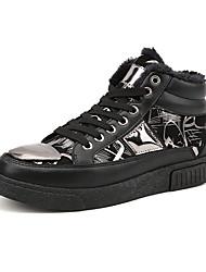 Da uomo-scarpe da ginnastica-Tempo libero / Ufficio e lavoro / Casual-Comoda-Piatto-Finta pelle-Nero