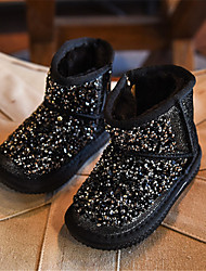 Girl's Boots Winter Comfort Leather Casual Black Pink