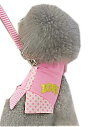 Lovely Dots and Stripe Hybrid Harness with Leash  for Pets Dogs(Assorted Sizes and Colours)