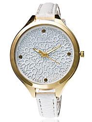Mulheres Relógio Elegante Relógio de Moda Relógio de Pulso Bracele Relógio Quartzo Punk Colorido Mostrador Grande PU BandaVintage Doce