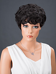 Short Full Bang Curly Synthetic Wig