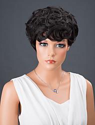 curta estrondo completa peruca sintética encaracolado