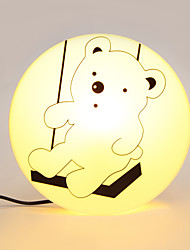 E14 220V Little Bear High Temperature Resistant Plastic LED Light And  Creative 3D Wall Paper Wall Lamp