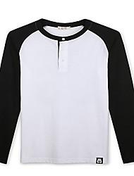 Trenduality® Men's Round Neck Long Sleeve T Shirt White - 43270