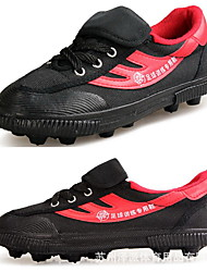 Soccer Shoes Anti-Slip Anti-Shake/Damping Breathable Wearproof Outdoor Low-Top Canvas Soccer/Football