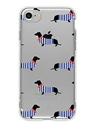 Für Ultra dünn / Transparent / Muster Hülle Rückseitenabdeckung Hülle Spaß mit dem Apple Logo Weich TPU AppleiPhone 7 plus / iPhone 7 /