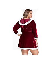 Costumes de Cosplay Costumes de père noël Fête / Célébration Déguisement Halloween Rouge Couleur Pleine Jupe / Ceinture Noël Féminin