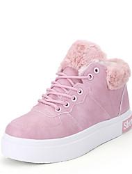 Damen-Sneaker-Lässig-KunststoffKomfort-Schwarz Rosa Weiß