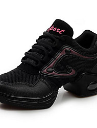 Women's Athletic Shoes Spring Fall Other Tulle Athletic Low Heel Black and Red Black and Gold Fitness & Cross Training