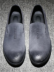 Men's Loafers & Slip-Ons Comfort Leather Casual Black Gray