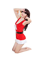 Costumes de Cosplay Fête / Célébration Déguisement Halloween Rouge Couleur Pleine Jupe / Chapeau / Plus d'accessoires Noël