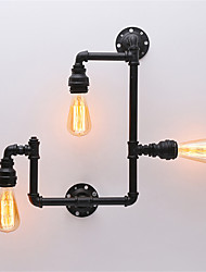 3 Heads Vintage Industrial Pipe Wall Lights Black Creative Lights Restaurant Cafe Bar Decoration lighting