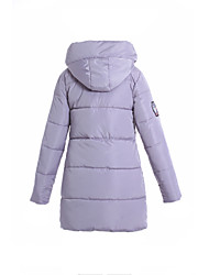 Women's Solid Blue / Pink / Black / Gray / Purple Padded Coat,Simple Hooded Long Sleeve Down Jacket