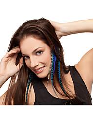 Зажим Аксессуары для волос Перья парики Аксессуары Для женщин