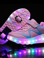 Kids LED Shoes Girl's Sneakers Spring / Summer / Fall / Winter Comfort Synthetic Athletic / Casual Flat Heel LED Blue / Pink