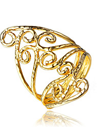 Real Gold Plating Part Dress Vintage Ring for Women