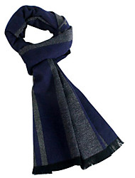 Men Rayon Scarf,Casual RectangleStriped