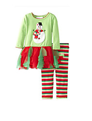 Festival/Holiday Halloween Costumes Light Green Striped Christmas Kid Cotton