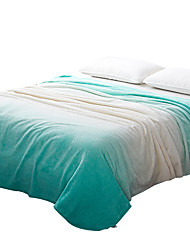 Plush Green,Printed Curve 100% Polyester Blankets
