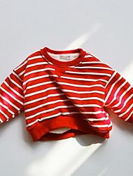 Unisex Casual/Daily Striped Hoodie & Sweatshirt,Cotton Winter Long Sleeve Short