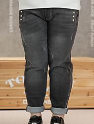 KELIXUAN Women's Solid Black Jeans PantsSimple Winter